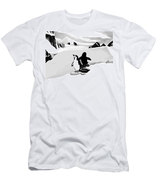 Chin Strap Penguins Men's T-Shirt (Athletic Fit)