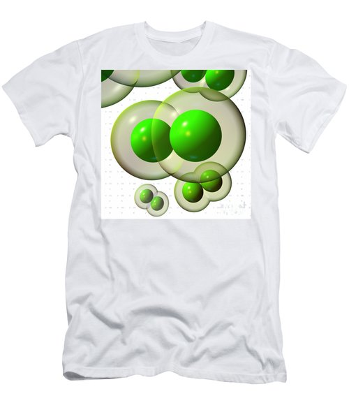Men's T-Shirt (Athletic Fit) featuring the digital art Chlorine Molecule 3 White by Russell Kightley