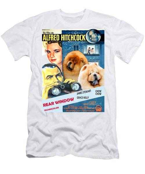 Chow Chow Art Canvas Print - Rear Window Movie Poster Men's T-Shirt (Athletic Fit)