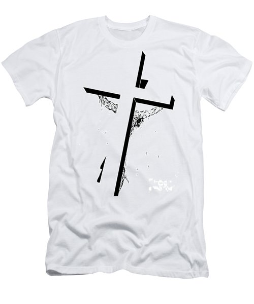 Men's T-Shirt (Slim Fit) featuring the drawing Christ On The Cross by Justin Moore
