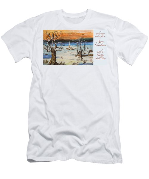 Christmas Card Painting Men's T-Shirt (Slim Fit) by Peter v Quenter