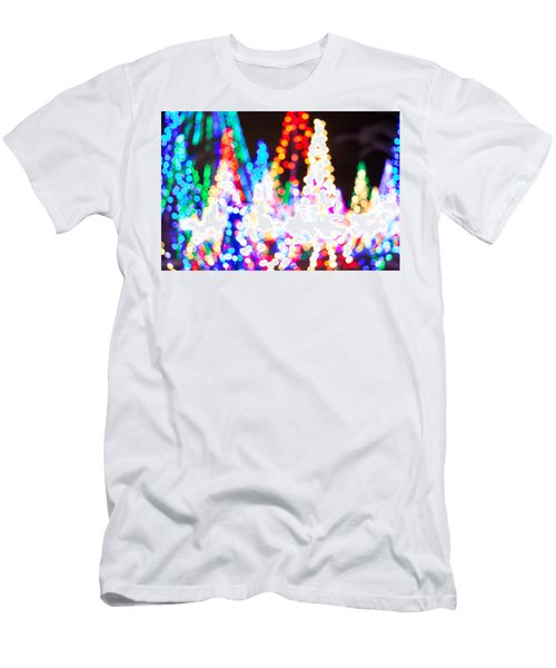 Christmas Lights Abstract Men's T-Shirt (Athletic Fit)
