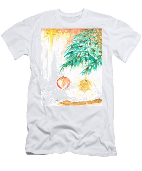 Men's T-Shirt (Slim Fit) featuring the painting Christmas Star by Teresa White