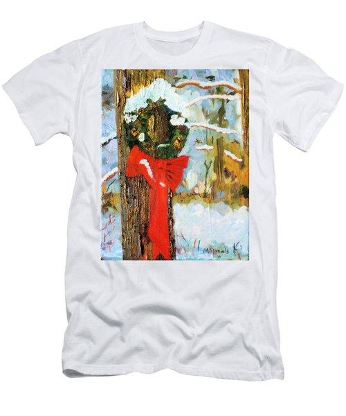 Christmas Wreath Men's T-Shirt (Athletic Fit)