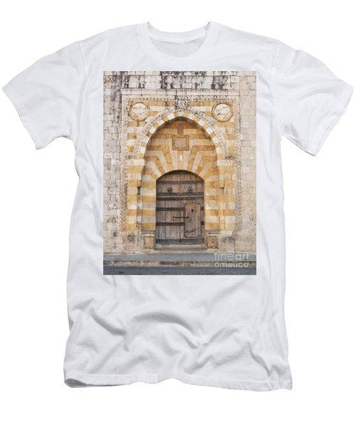Church Door In Beirut Lebanon Men's T-Shirt (Athletic Fit)
