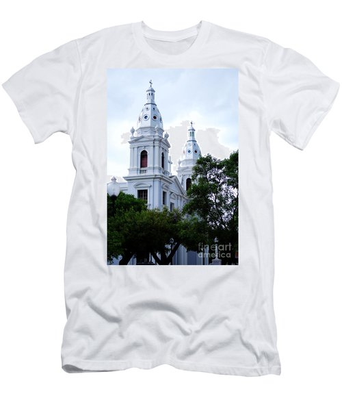 Church In Puerto Rico Men's T-Shirt (Slim Fit) by DejaVu Designs