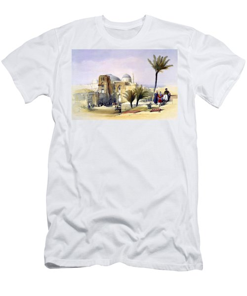 Church Of The Holy Sepulchre In Jerusalem Men's T-Shirt (Athletic Fit)