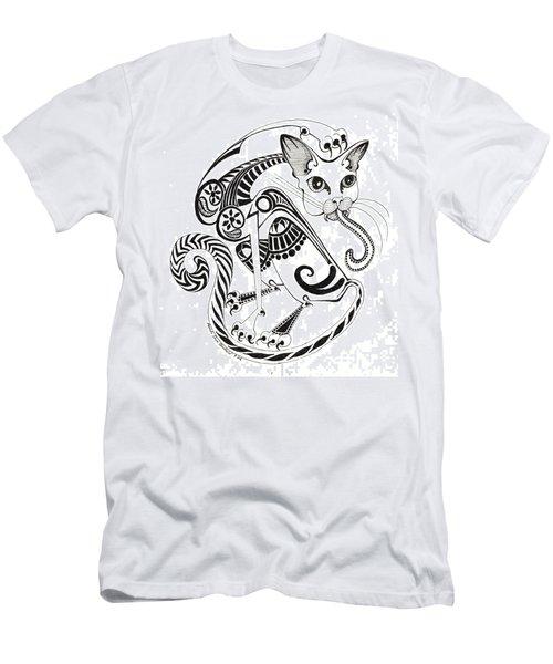 Circle Cat Men's T-Shirt (Slim Fit)