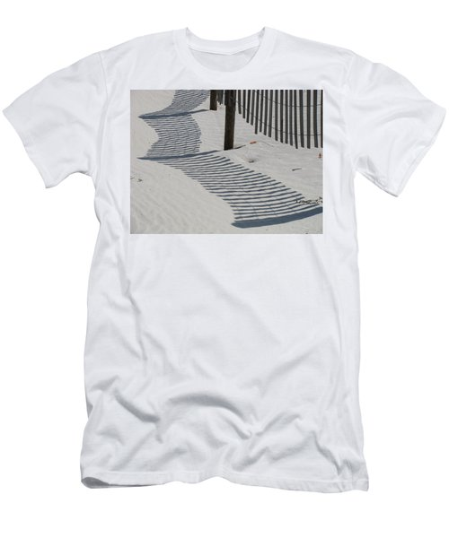 Circus Beach Fence Men's T-Shirt (Slim Fit) by Ellen Meakin