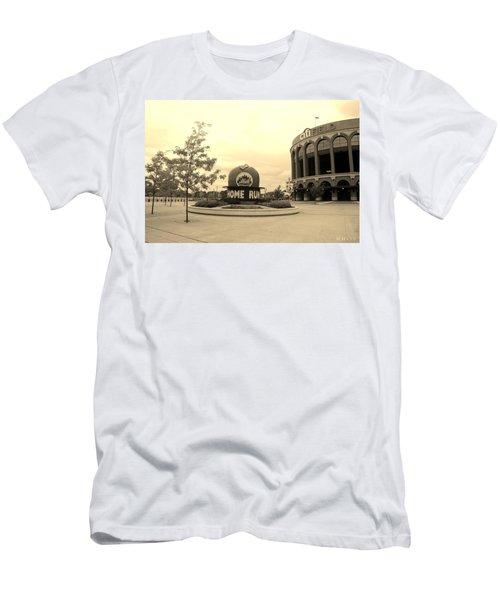 Citi Field In Sepia Men's T-Shirt (Athletic Fit)