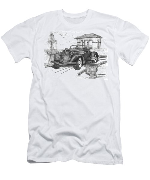 Classic Auto With Formal Gardens Men's T-Shirt (Athletic Fit)