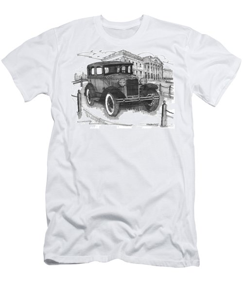 Classic Auto With Mills Mansion Men's T-Shirt (Athletic Fit)