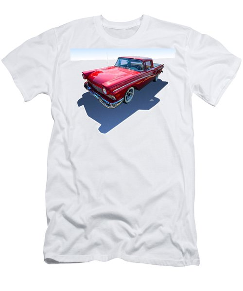 Men's T-Shirt (Slim Fit) featuring the photograph Classic Red Truck by Gianfranco Weiss