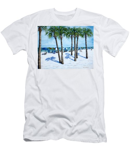Men's T-Shirt (Slim Fit) featuring the painting Clearwater Beach Morning by Penny Birch-Williams