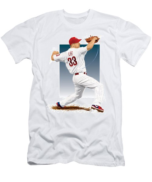 Cliff Lee Men's T-Shirt (Slim Fit) by Scott Weigner