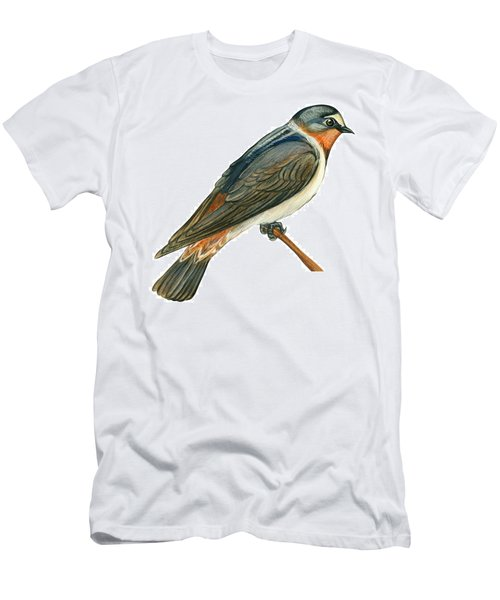 Cliff Swallow  Men's T-Shirt (Slim Fit) by Anonymous