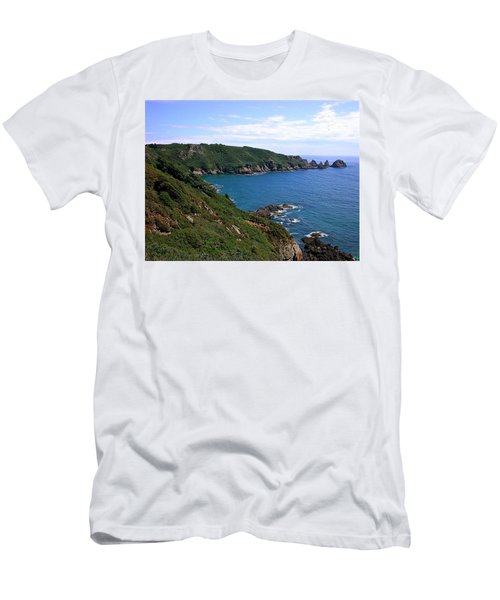 Cliffs On Isle Of Guernsey Men's T-Shirt (Athletic Fit)