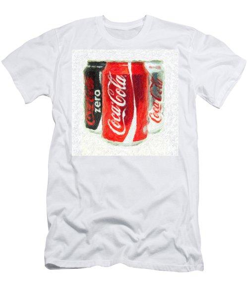 Coca Cola Art Impasto Men's T-Shirt (Slim Fit) by Antony McAulay