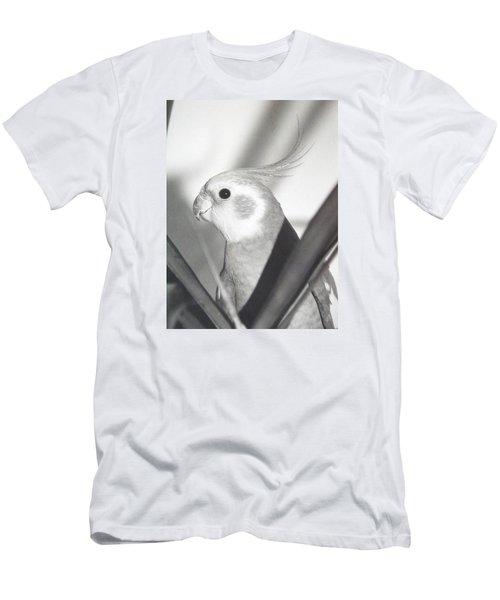 Men's T-Shirt (Slim Fit) featuring the photograph Cockatiel In Palm by Belinda Lee