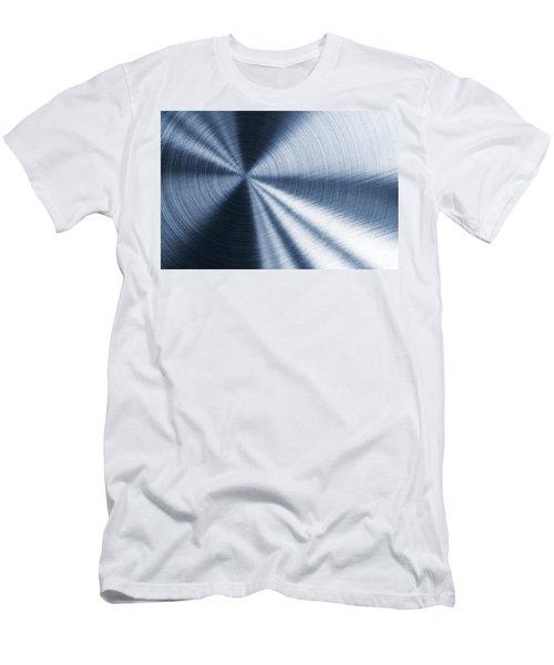 Cold Blue Metallic Texture Men's T-Shirt (Athletic Fit)