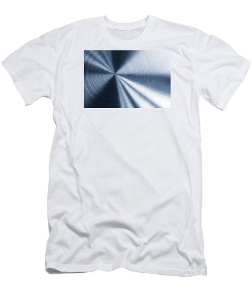 Cold Blue Metallic Texture Men's T-Shirt (Athletic Fit)