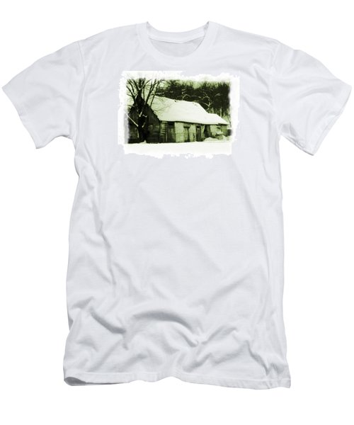 Men's T-Shirt (Slim Fit) featuring the photograph Countryside Winter Scene by Nina Ficur Feenan