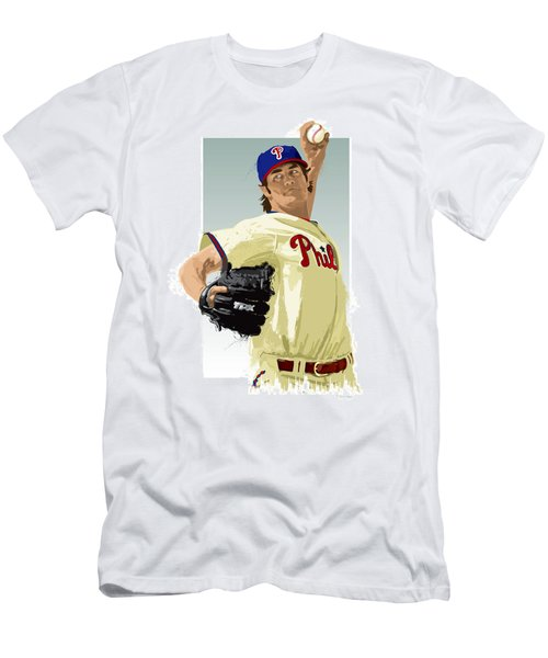 Cole Hamels Men's T-Shirt (Slim Fit) by Scott Weigner