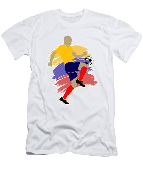 Colombia Soccer Player Men's T-Shirt (Athletic Fit)