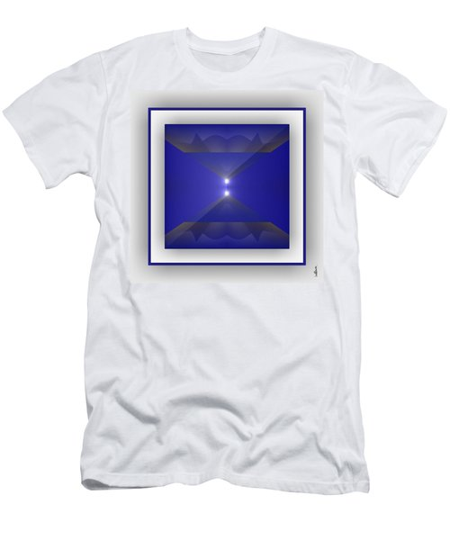 Men's T-Shirt (Athletic Fit) featuring the digital art Color Light Transparencies by Mihaela Stancu