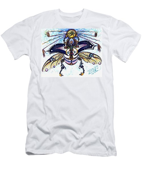 Colored Cultural Zoo B Sacred Scarab Men's T-Shirt (Athletic Fit)