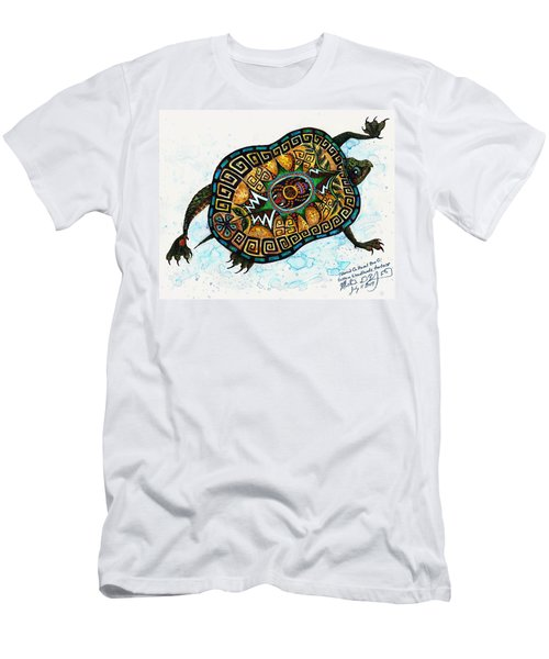 Colored Cultural Zoo C Eastern Woodlands Tortoise Men's T-Shirt (Athletic Fit)