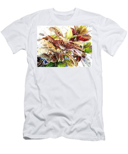 Colorful - Croton - Plant Men's T-Shirt (Athletic Fit)