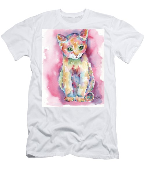 Colorful Kitten Men's T-Shirt (Athletic Fit)
