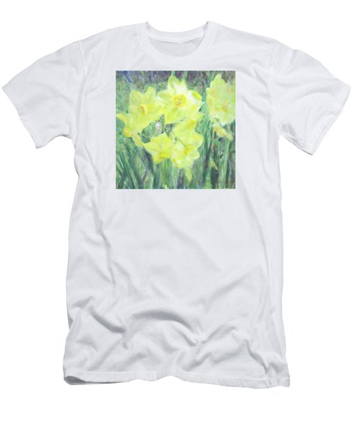 Colorful  Yellow Flowers Men's T-Shirt (Athletic Fit)