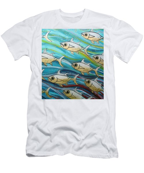 Coloured Water Fish Men's T-Shirt (Athletic Fit)