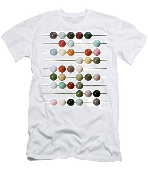Colourful Beads On Metal Rods Men's T-Shirt (Athletic Fit)