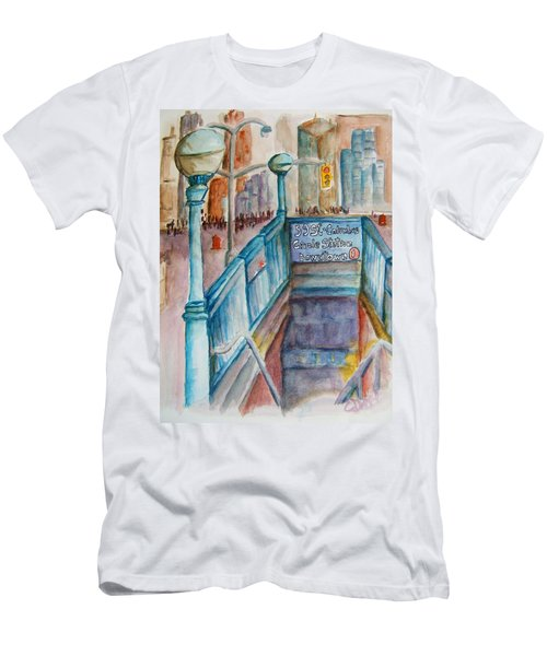Columbus Circle Subway Stop Men's T-Shirt (Athletic Fit)