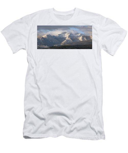 Como Peaks Montana Men's T-Shirt (Slim Fit) by Joseph J Stevens