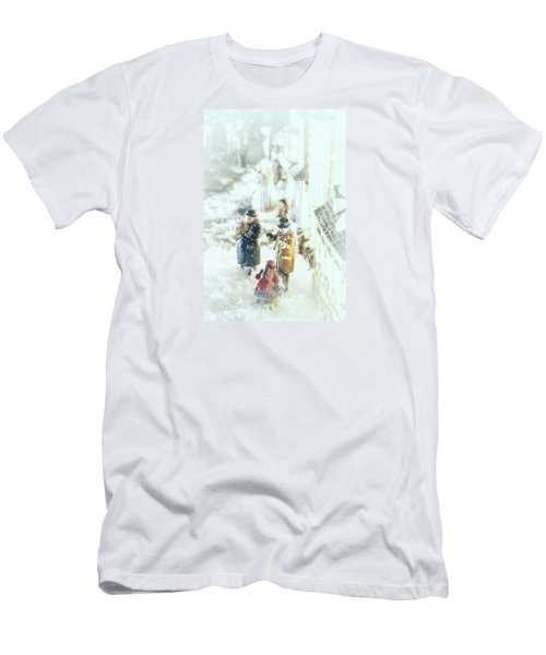 Concert In The Snow Men's T-Shirt (Slim Fit) by Caitlyn  Grasso
