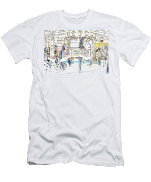 Coney Island Carousel Men's T-Shirt (Athletic Fit)