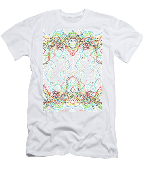 Men's T-Shirt (Slim Fit) featuring the drawing Confetti Rorschach by Carol Jacobs