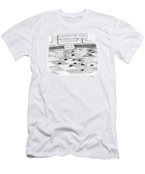 Contractor Ants Are Leaving A House. Ants' Speech Men's T-Shirt (Athletic Fit)