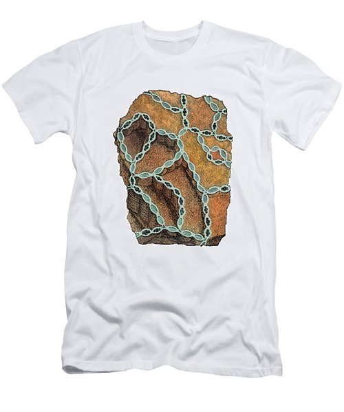 Coral Fossil Men's T-Shirt (Athletic Fit)
