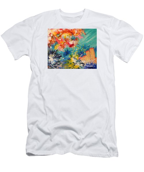 Coral Madness Men's T-Shirt (Slim Fit) by Lyn Olsen