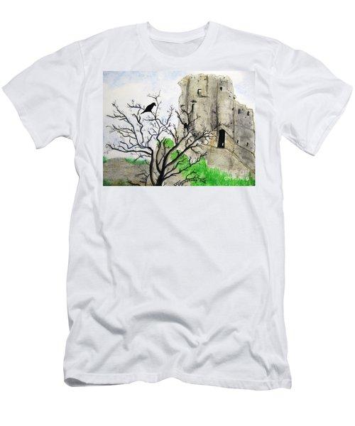 Corfe Castle And Crow Men's T-Shirt (Athletic Fit)