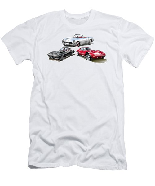 Men's T-Shirt (Athletic Fit) featuring the digital art Corvette Generation by Thomas J Herring