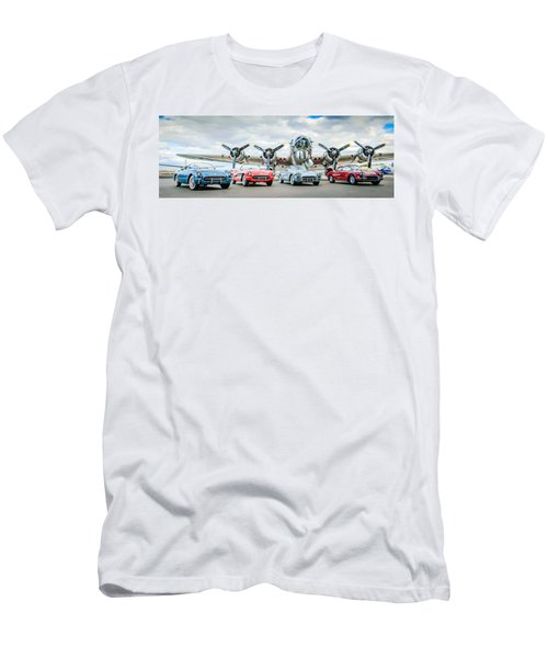 Corvettes With B17 Bomber Men's T-Shirt (Athletic Fit)