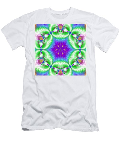 Cosmic Spiral Kaleidoscope 10 Men's T-Shirt (Athletic Fit)