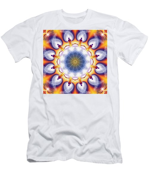 Cosmic Spiral Kaleidoscope 34 Men's T-Shirt (Athletic Fit)