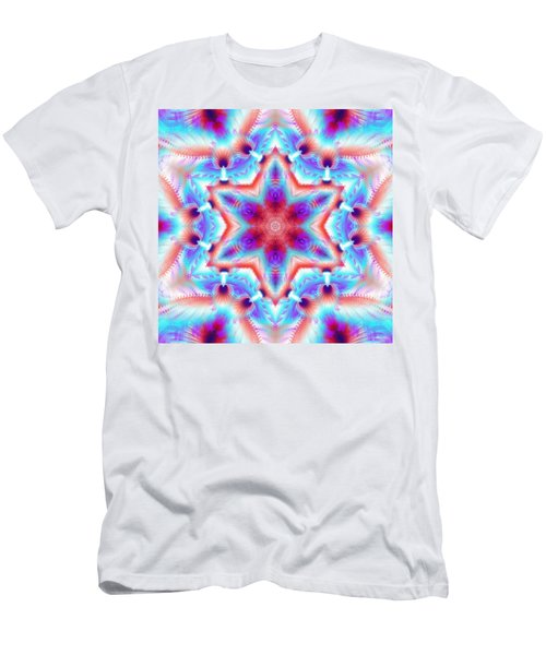Cosmic Spiral Kaleidoscope 45 Men's T-Shirt (Athletic Fit)
